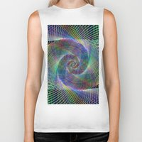fractal Biker Tanks featuring Fractal by David Zydd - Colorful Mandalas & Abstrac