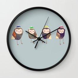 Owls. Wall Clock