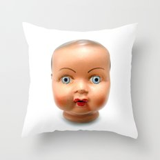 Dolls head Throw Pillow