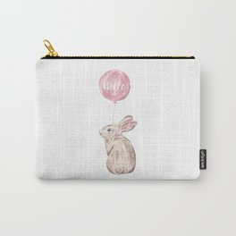 Rabbit Greetings Carry-All Pouch