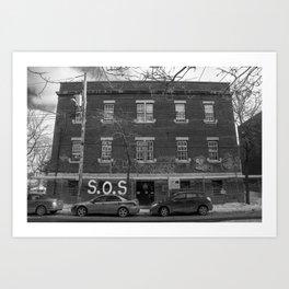 Pointe St. Charles SOS Art Print