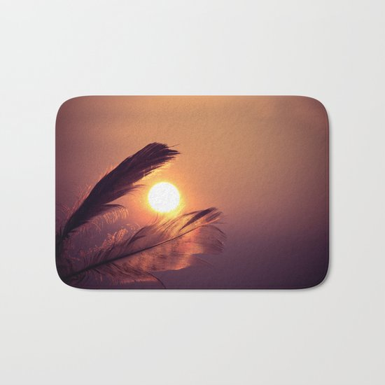 Sunset Feathers Bath Mat