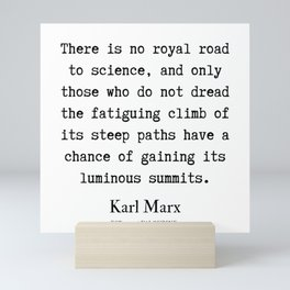 14  | Karl Marx Quotes | 190817 Mini Art Print