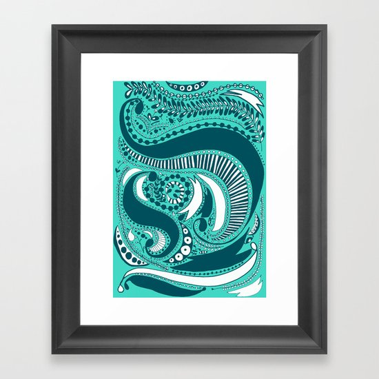 Majorie Blue Framed Art Print