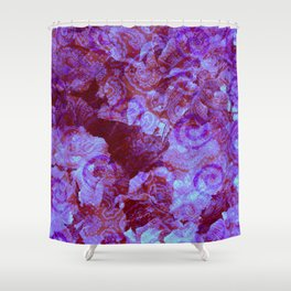 Hydrangea Paisley Abstract Shower Curtain
