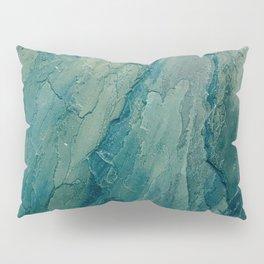 Aqua Blue Marble Pillow Sham