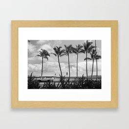 Bay Front Chat Framed Art Print