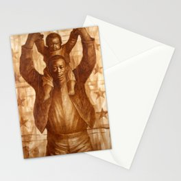 African-American Classical Masterpiece 'Black Father & Son, 1865' by Charles White Stationery Cards