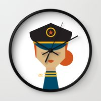 pilot Wall Clocks featuring Pilot by Page 84 Design