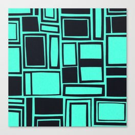 Windows & Frames - Teal Canvas Print