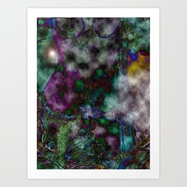 Psychedelic Nature Goddess Art Print