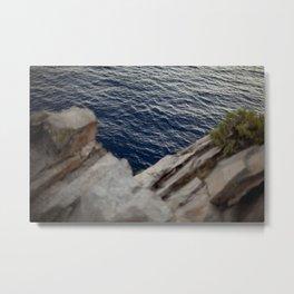 Water Between the Rocks Metal Print