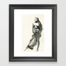 nude watercolor study Framed Art Print