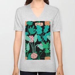 Postmodern Planters in Black Unisex V-Neck