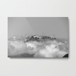 Mountains on Clouds Alpine landscape Metal Print