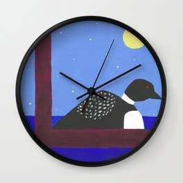 L is for Loon Wall Clock