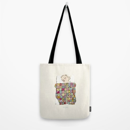 sleeping child Tote Bag