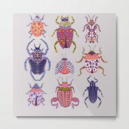 Assorted Beetles Metal Print