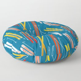 Colorful Ski Pattern Floor Pillow