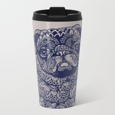 MANDALA OF PUG Metal Travel Mug