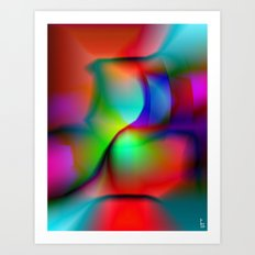 Color Collision I Art Print