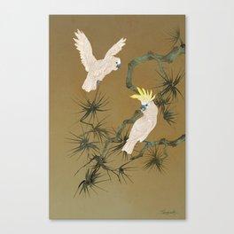 Wild Cockatoos Canvas Print
