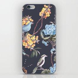 BIRDS, BLOSSOMS & BUTTERFLIES iPhone Skin