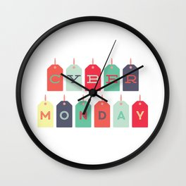 Cyber Monday Sale Time Wall Clock