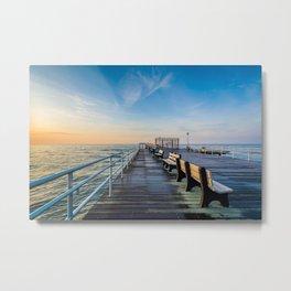 Off the Fishing Pier Metal Print