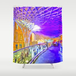 London Pop Art Shower Curtain