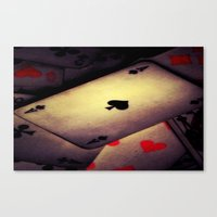 poker Canvas Prints featuring Poker  by    Amy Anderson