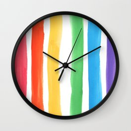 Watercolor Rainbow Wall Clock