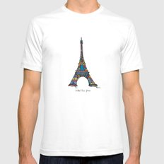 eiffel tower SMALL White Mens Fitted Tee
