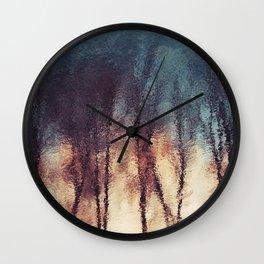 Water Reflections Abstract Art Wall Clock