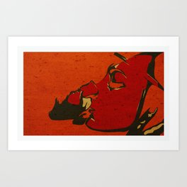 Bleeding to love Art Print