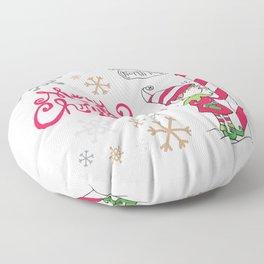 Merry Christmas Elf Floor Pillow