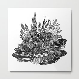 Hidden Cuttlefish Metal Print