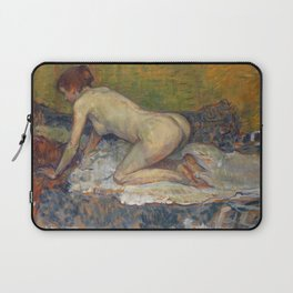 "Henri de Toulouse-Lautrec ""Crouching Woman with Red Hair"" Laptop Sleeve"