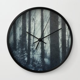 Glass Light Forest Wall Clock