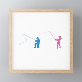 Fishing Couples Love Angling Fishermen Fish Gift Framed Mini Art Print