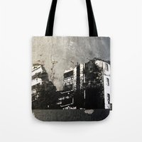 sticker Tote Bags featuring Sticker City by Shy Photog