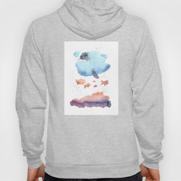 Cloud fish the Boogie Man - Fantasy Worlds - Watercolor Hoody