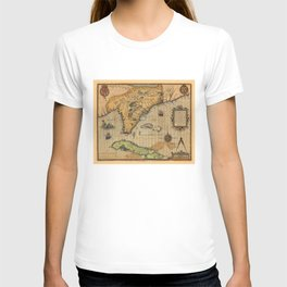 Map of Florida and part of Cuba (1591) T-shirt