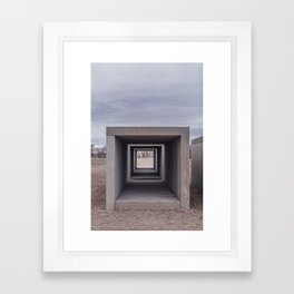 Donald Judd's Concrete Blocks at The Foundation Framed Art Print