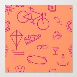 Summer pattern Canvas Print