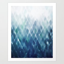 Diamond Fade in Blue Art Print