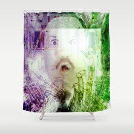 Paul Blart Enters The Matrix Shower Curtain