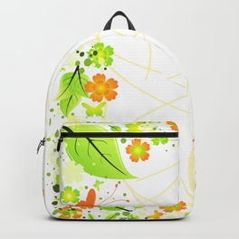 Frame from abstract flowers Backpack