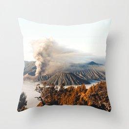 Mount Bromo Indonesia Throw Pillow