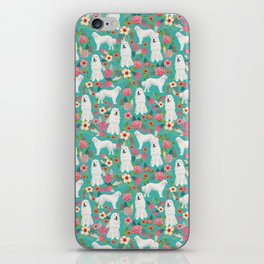 Great Pyrenees florals pattern dog breed must have dog lover gifts iPhone Skin